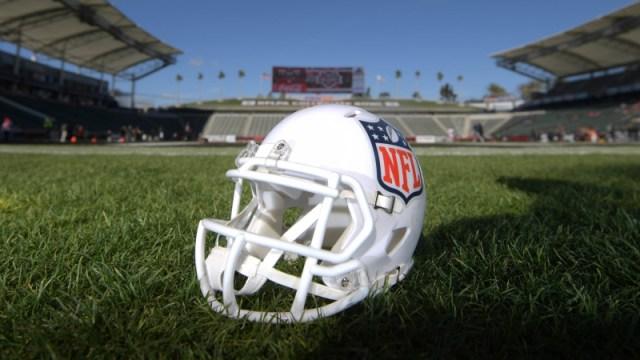 Helmet with NFL logo
