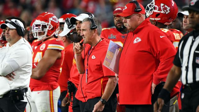 Kansas City Chiefs defensive coordinator Steve Spagnuolo and head coach Andy Reid