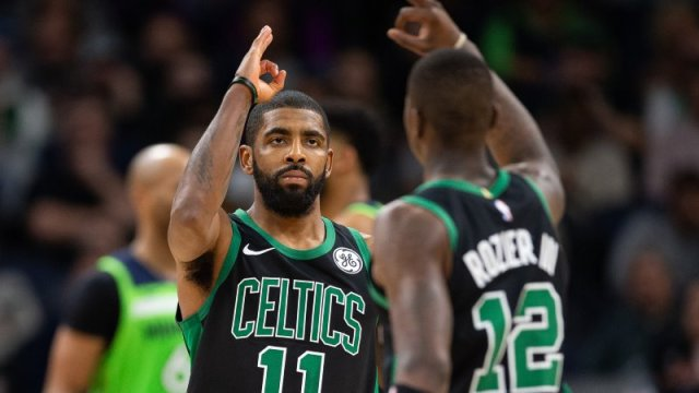 Terry Rozier and Kyrie Irving Boston Celtics
