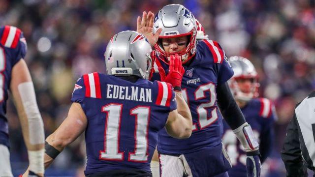 New England Patriots' Tom Brady and Julian Edelman