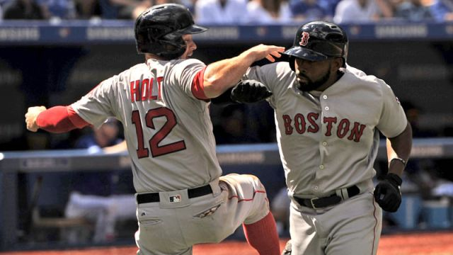 Boston Red Sox outfielder Jackie Bradley Jr. and Milwaukee Brewers utility player Brock Holt