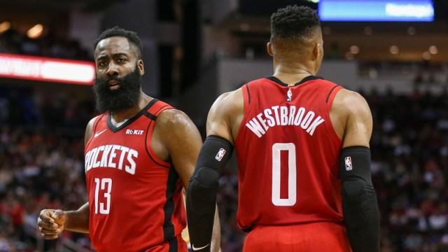 Houston Rocket's James Harden & Russell Westbrook