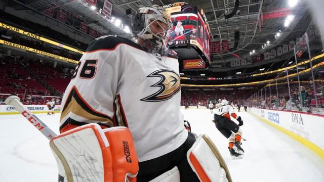 Anaheim Ducks' John Gibson