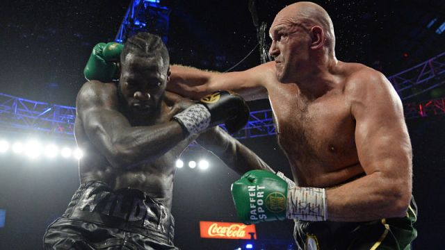 boxing heavyweights Tyson Fury and Deontay Wilder