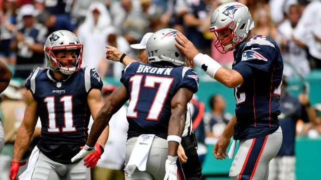 Tampa Bay Buccaneers Quarterback Tom Brady And NFL Free Agent wide receiver Antonio Brown