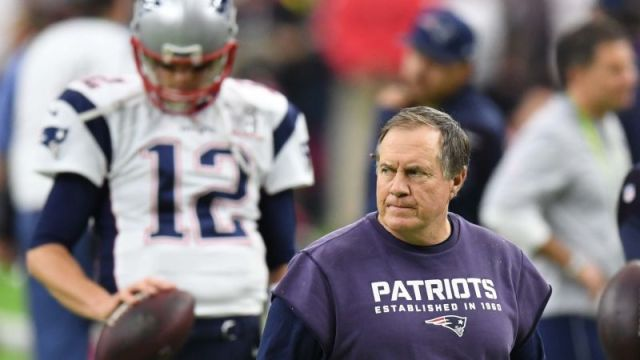 Tampa Bay Buccaneers quarterback Tom Brady and New England Patriots coach Bill Belichick