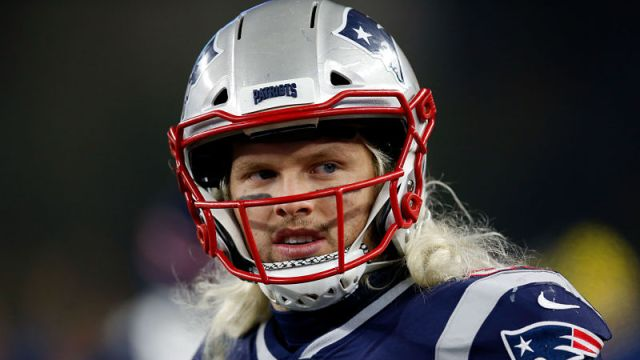 New England Patriots defensive end Chase Winovich
