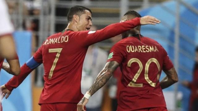 Portugal's Cristiano Ronaldo Ricardo Quaresma