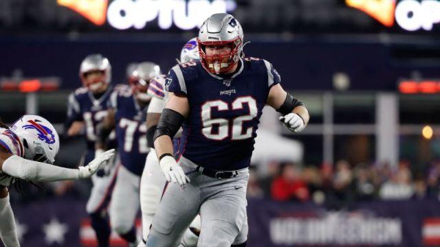 New England Patriots guard Joe Thuney