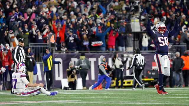 Buffalo Bills quarterback Josh Allen and Detroit Lions linebacker Jamie Collins