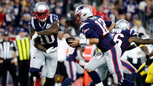 NFL wide receiver Josh Gordon and quarterback Tom Brady