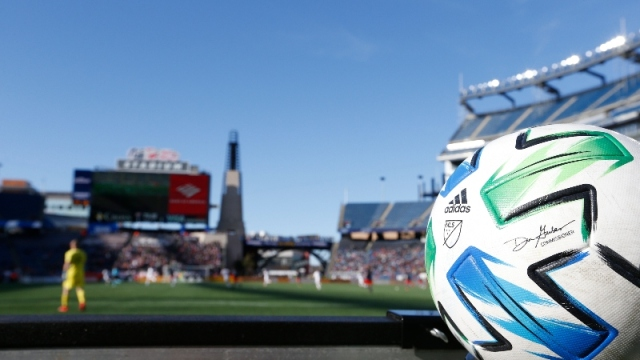 An extra Adidas MLS official Match ball
