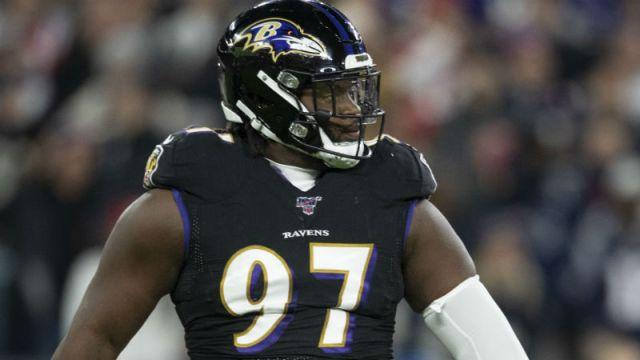 Baltimore Ravens defensive tackle Michael Pierce