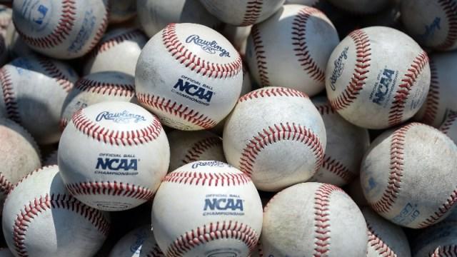 General view of NCAA baseballs
