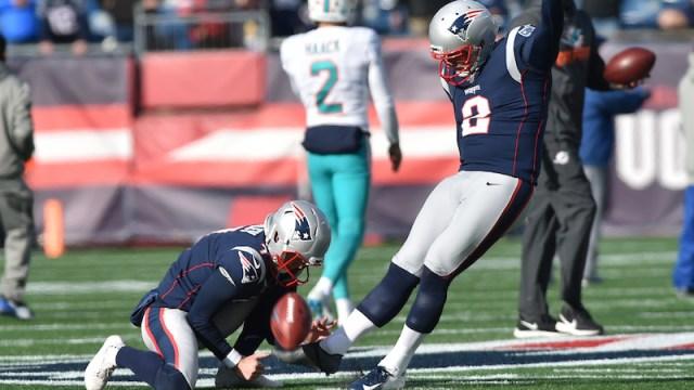 Patriots kicker Nick Folk
