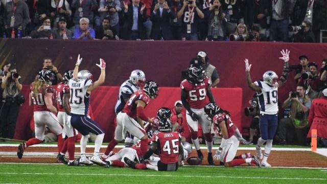 New England Patriots and Atlanta Falcons players