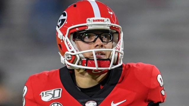 Georgia Bulldogs place kicker Rodrigo Blankenship