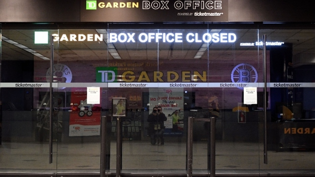A general view of the TD Garden box office