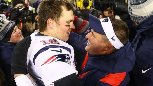 New England Patriots quarterback Tom Brady, New England Patriots offensive coordinator Josh McDaniels