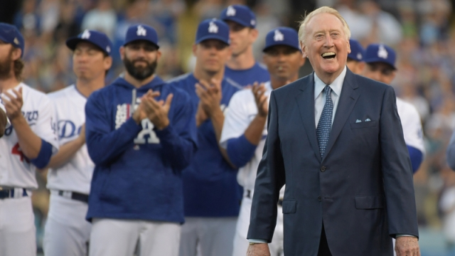 Former Los Angeles Dodgers Broadcaster Vin Scully