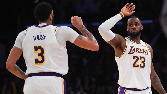 Los Angeles Lakers' center Anthony Davis