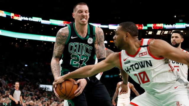 Boston Celtics center Daniel Theis