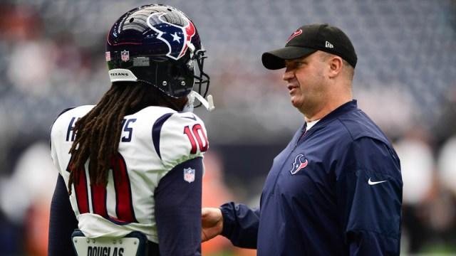 Texans reciever DeAndre Hopkins, Texans head coach Bill O'Briend