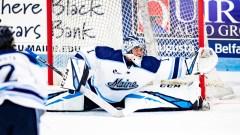 Maine goalie Jeremy Swayman