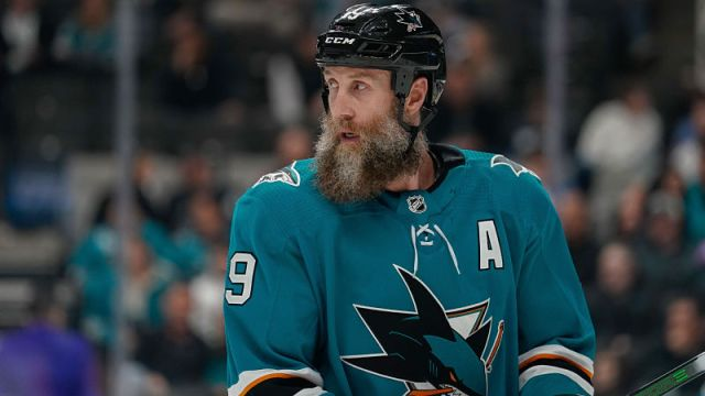 San Jose Sharks center Joe Thornton
