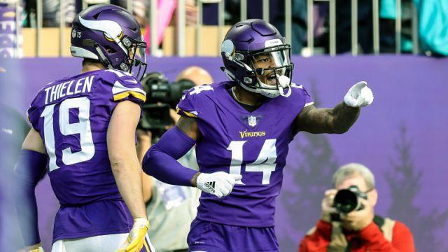 Minnesota Vikings wide receiver Adam Thielen and Buffalo Bills wide receiver Stefon Diggs