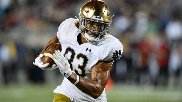 Notre Dame wide receiver Chase Claypool