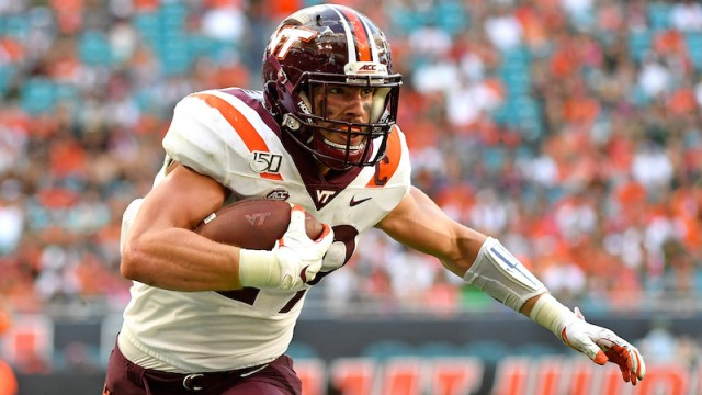 Virginia Tech tight end Dalton Keene