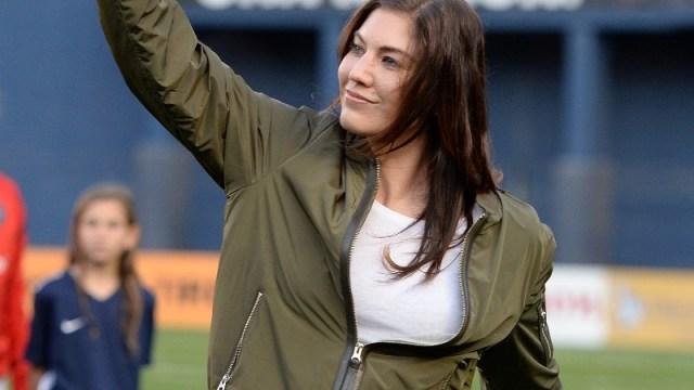 Former U.S. women's soccer team goalkeeper Hope Solo