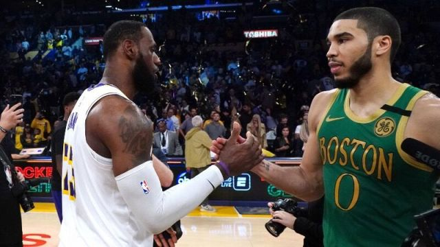 Boston Celtics Jayson Tatum, LeBron James