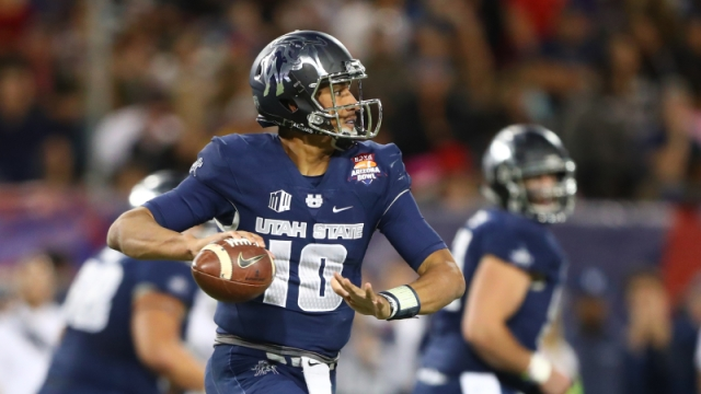 Utah State quarterback Jordan Love