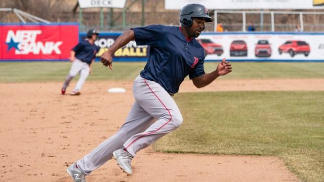 Pawtucket Red Sox first baseman Josh Ockimey
