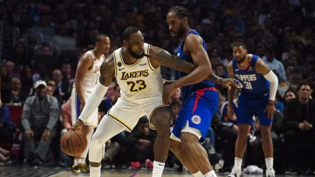 Los Angeles Lakers forward LeBron James, LA Clippers forward Kawhi Leonard