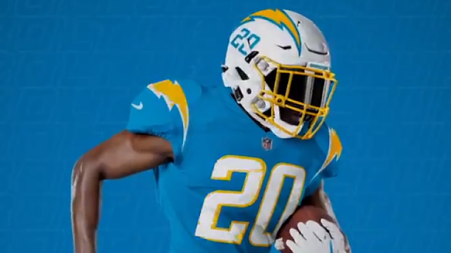 Los Angeles Chargers new uniforms