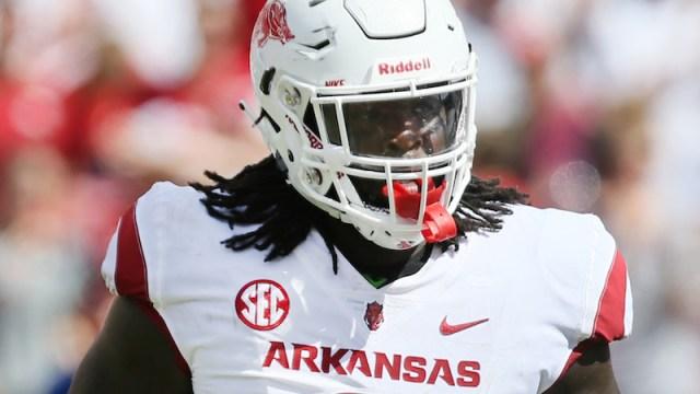 Arkansas defensive tackle McTelvin Agim