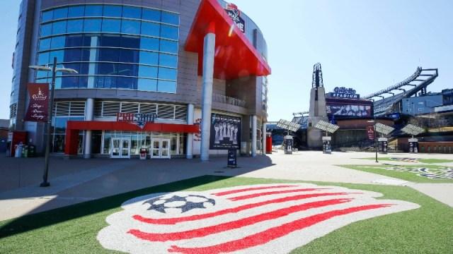 The mall outside Gillette Stadium