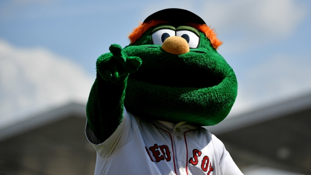 Boston Red Sox Mascot Wally The Green Monster