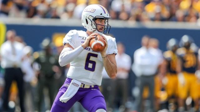 James Madison University quarterback Ben DiNucci