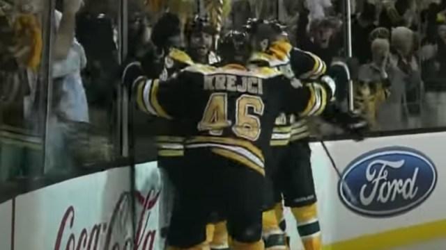 Bruins winger Nathan Horton