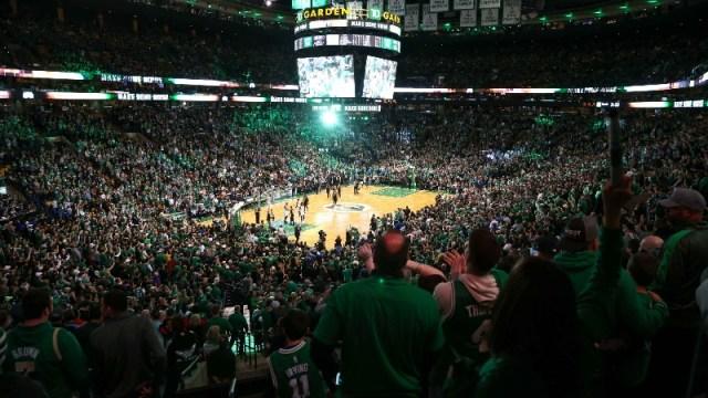 Boston Celtics fans at TD Garden