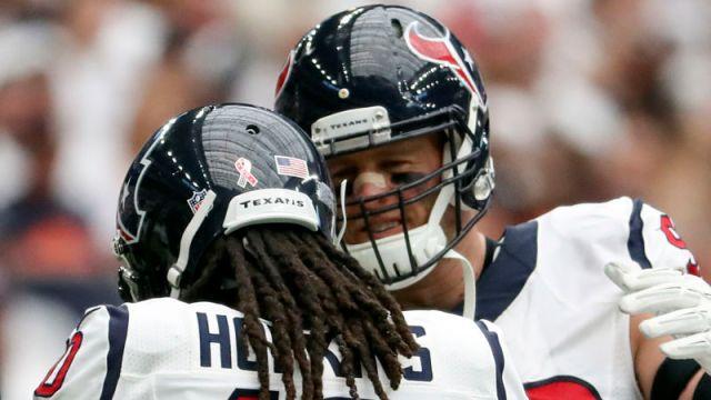 Arizona Cardinals wide receiver DeAndre Hopkins and Houston Texans defensive end J.J. Watt