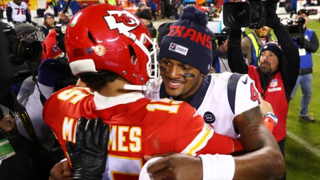 Kansas City Chiefs Quarterback Patrick Mahomes and Houston Texans Quarterback Deshaun Watson