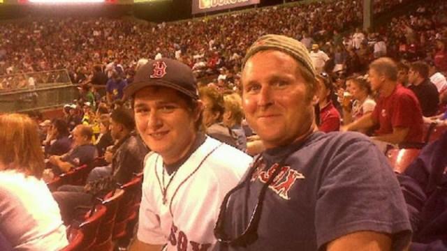 NESN Fans' Choice Week 2 winner Matt Martin (left) and his father