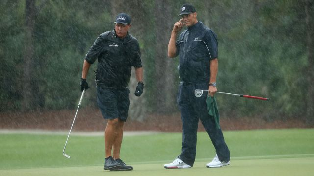 PGA Tour golfer Phil Mickelson and Tampa Bay Buccaneers quarterback Tom Brady