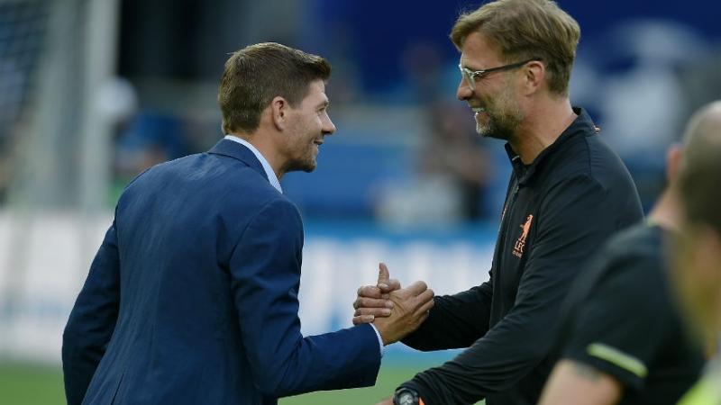 Jurgen Klopp Finally Encounters Steven Gerrard In Liverpool During Lockdown