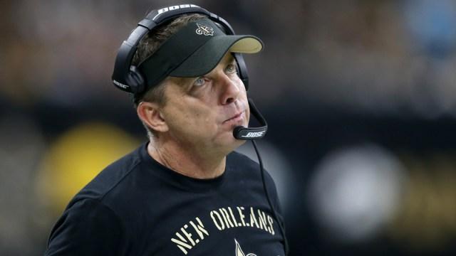 New Orleans Saints beach coach Sean Payton